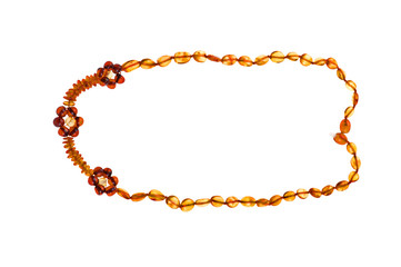 Baltic amber on white