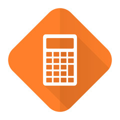 calculator orange flat icon
