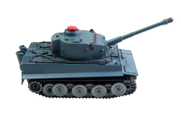 toy tank isolated
