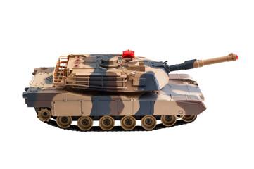 toy tank on white