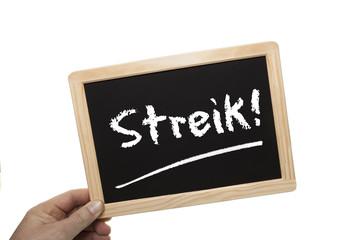 Schild Streik © Matthias Buehner