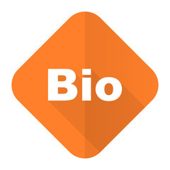 bio orange flat icon