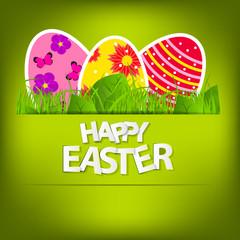 Happy Easter Spring Background Vector Illustration