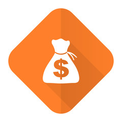 money orange flat icon