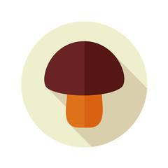 Mushroom flat icon with long shadow
