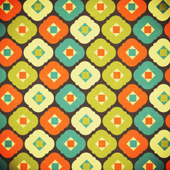 retro geometrical abstract background