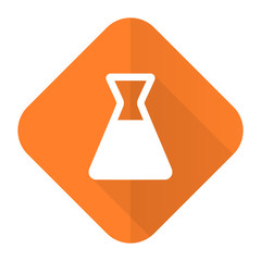 laboratory orange flat icon