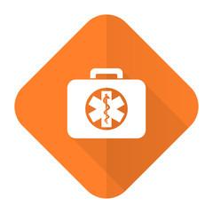 rescue kit orange flat icon emergency sign