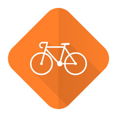 bicycle orange flat icon bike sign