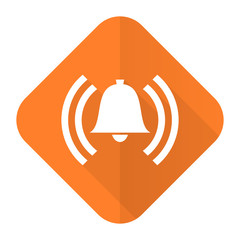 alarm orange flat icon alert sign bell symbol