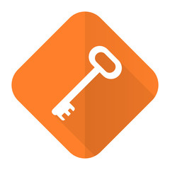key orange flat icon secure symbol