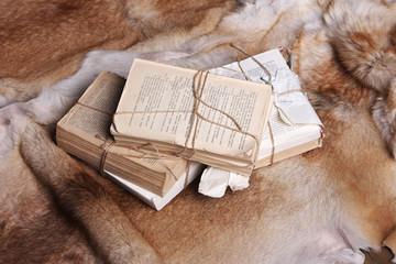Vintage book on fur