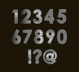 Silver font digits