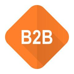 b2b orange flat icon