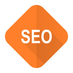 seo orange flat icon
