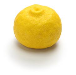 yuzu citrus fruit, japanese cuisine condiment isolated