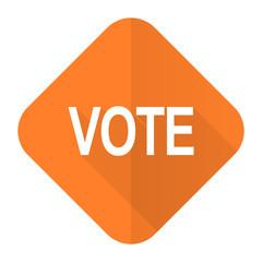 vote orange flat icon