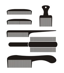 comb sets - silhouette