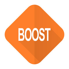 boost orange flat icon