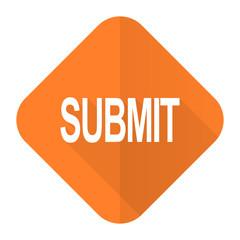 submit orange flat icon