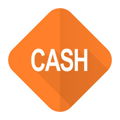 cash orange flat icon