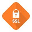 ssl orange flat icon
