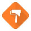 canvas print picture - brush orange flat icon paint sign