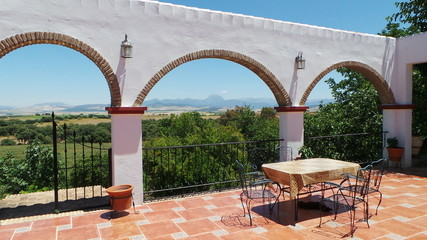 paysage terrasse andalousie