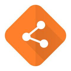 share orange flat icon