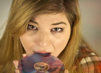Female Eating DVD