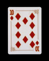 Spielkarten - Poker - Karo Zehn im Spiel