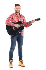 Man with a acoustic guitar