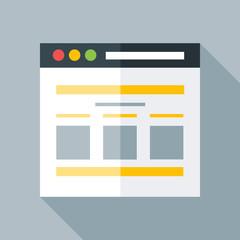 Flat stylized webpage