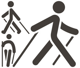Nordic Walking icons