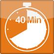 canvas print picture - Uhr mit 40 Minuten