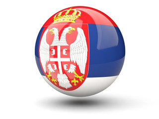 Round icon of flag of serbia