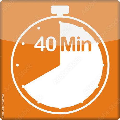 canvas print picture Uhr mit 40 Minuten