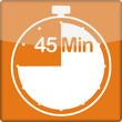 canvas print picture - Uhr mit 45 Minuten