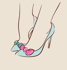 Woman wearing beautiful shoes