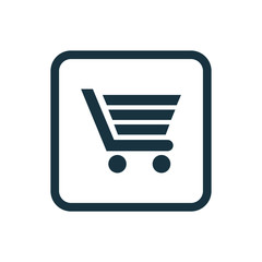 shopping cart icon Rounded squares button.