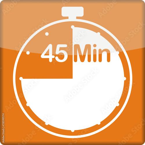 canvas print picture Uhr mit 45 Minuten