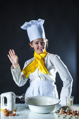 Cook waving