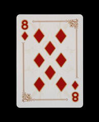 Spielkarten - Poker - Karo Acht im Spiel