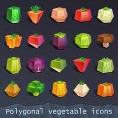 Polygonal vegetable icons