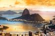 Leinwanddruck Bild - Rio De Janeiro, Brazil in twilight