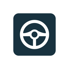 steering wheel icon Rounded squares button.