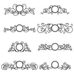 Vector set of outline frames
