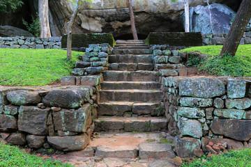Stairs in Sigiriya Castle