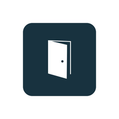 open door icon Rounded squares button.