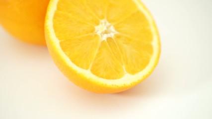 Oranges, citrus fruit isolated on white background